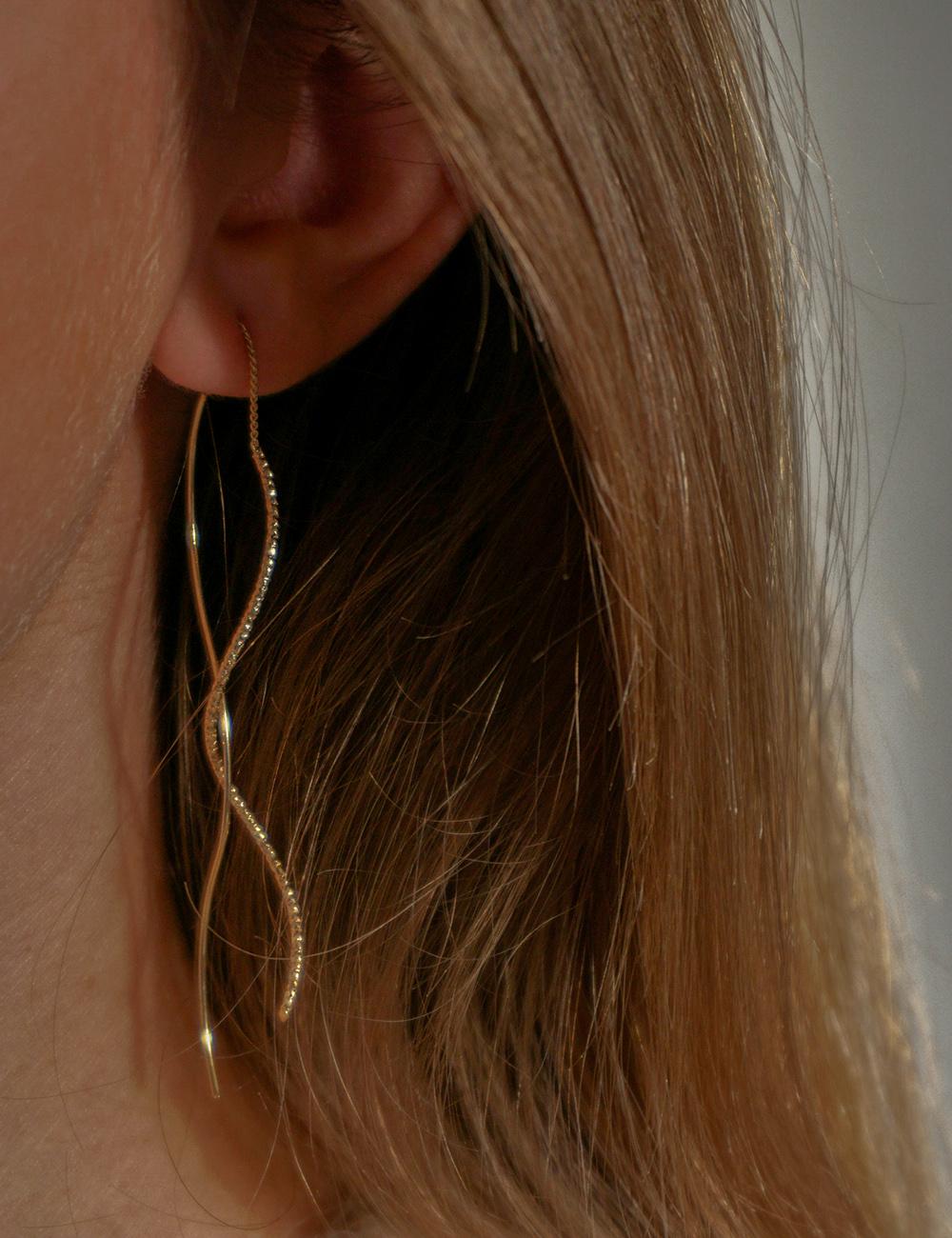Ava – Guld øreringe