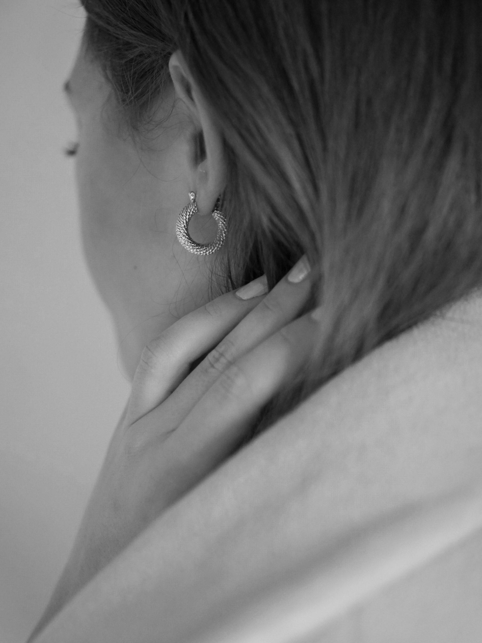 Sophia – sølv øreringe