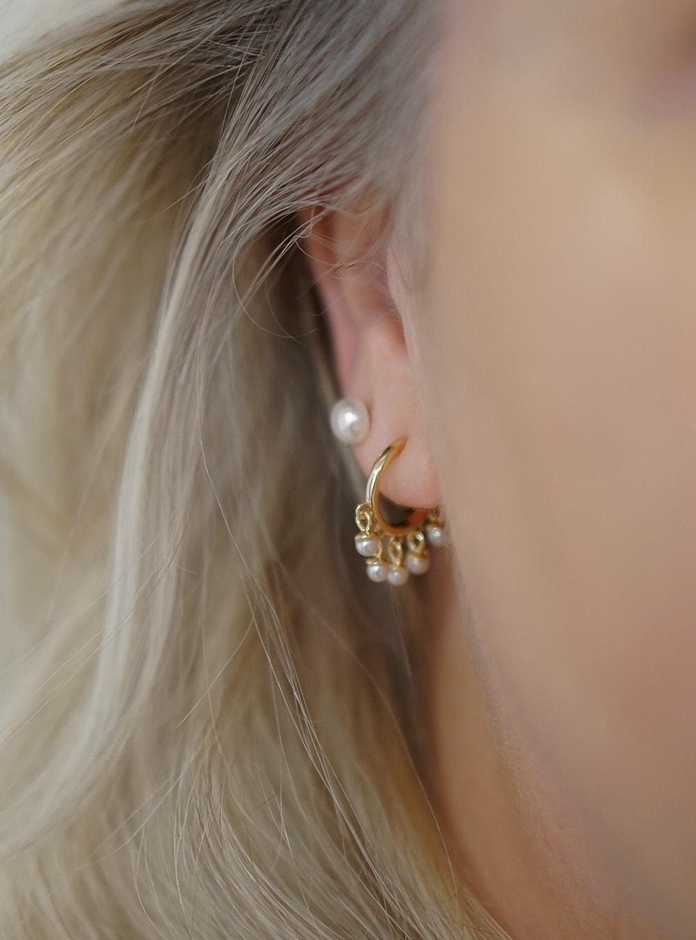 Gabi – perle øreringe