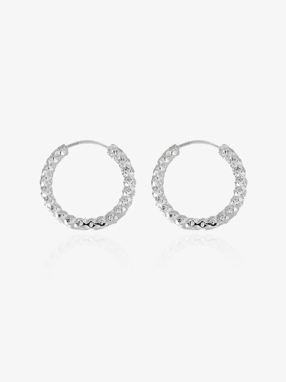 Amelia – sølv hoops
