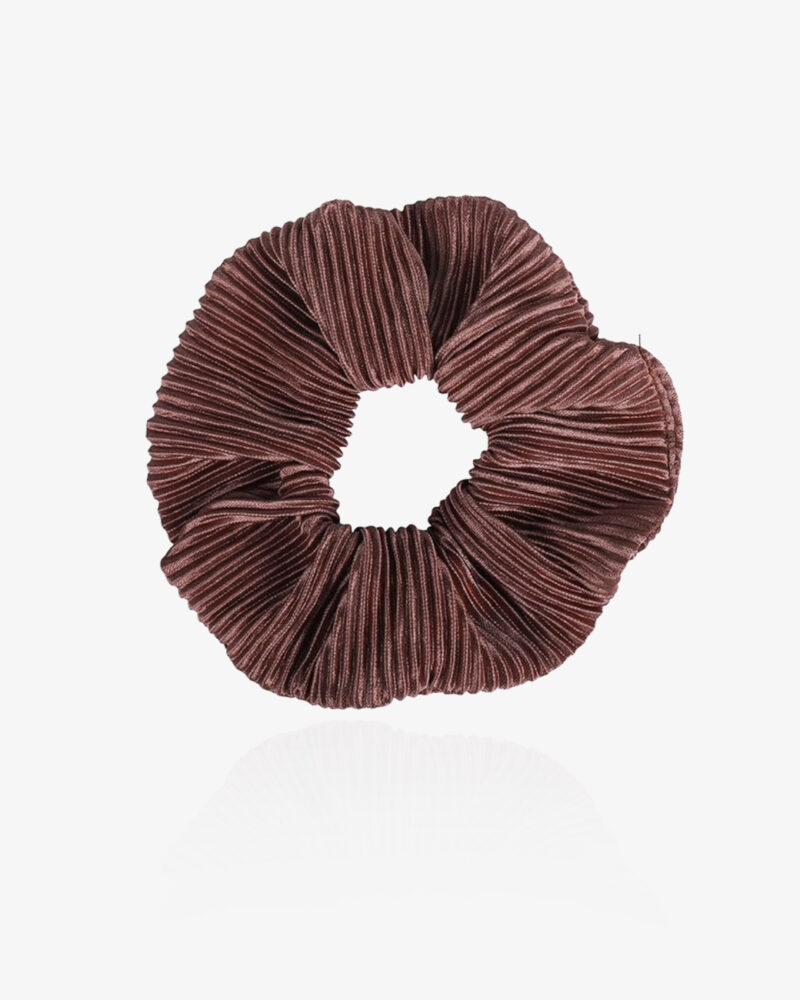 Klassisk scrunchie – brun