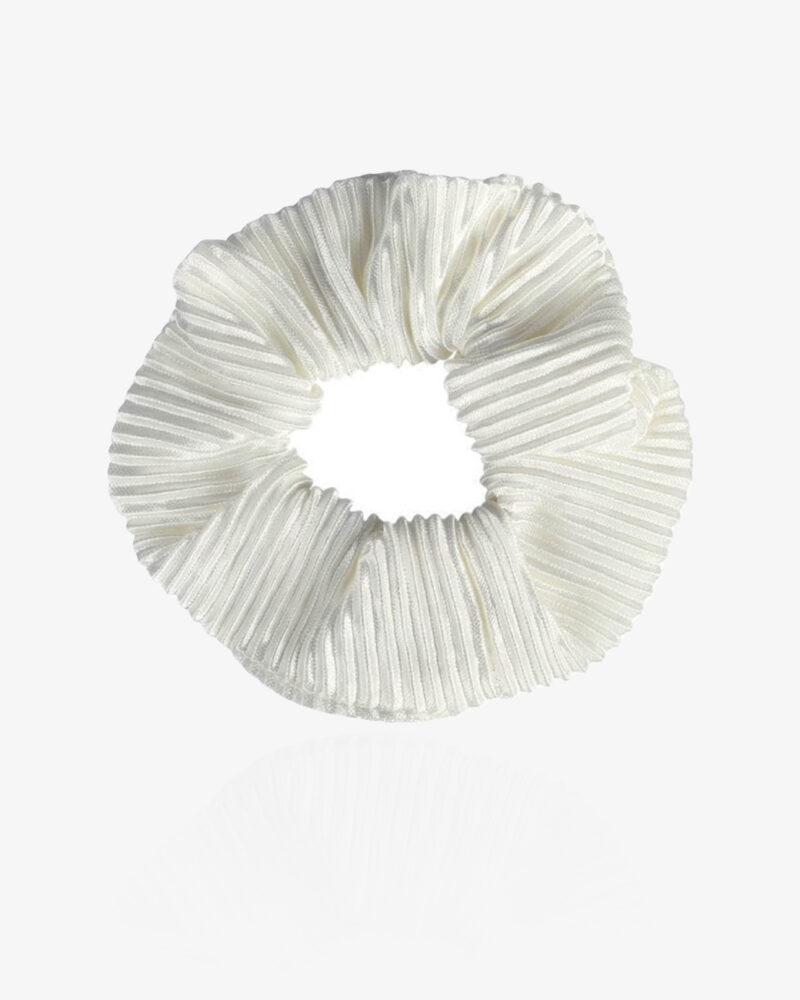 Klassisk scrunchie – hvid
