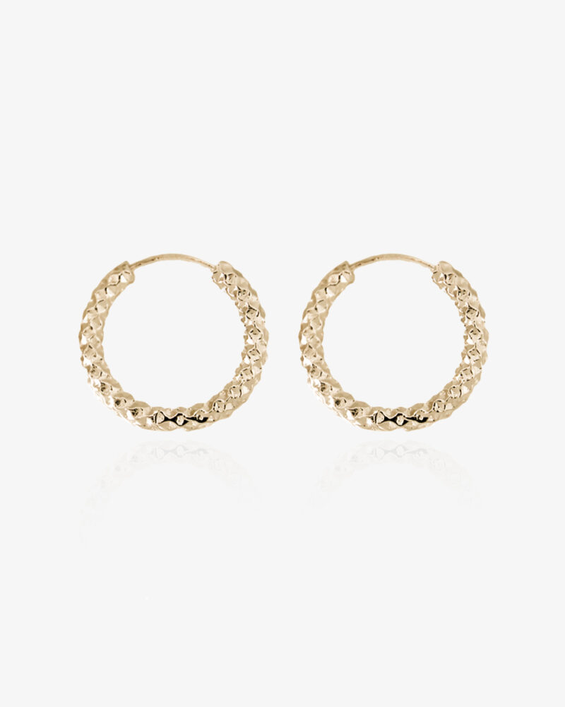 Amelia – guld hoops