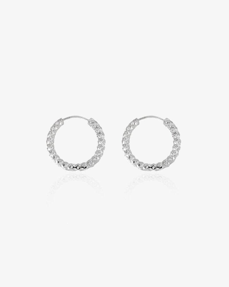 Amelia – sølv hoops (små)