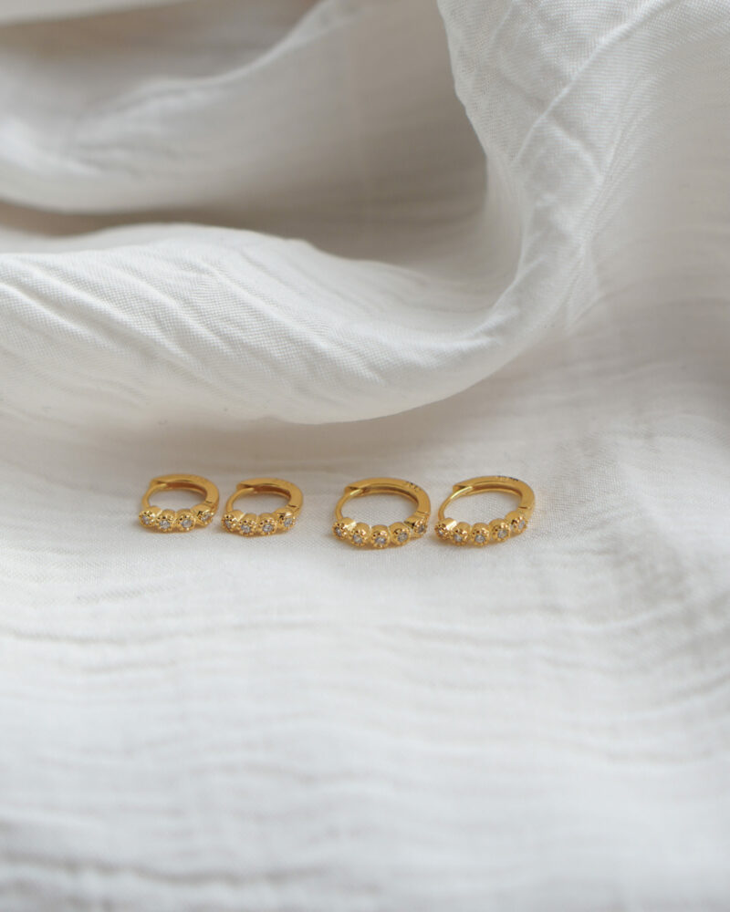 Isabel – mini guld hoops
