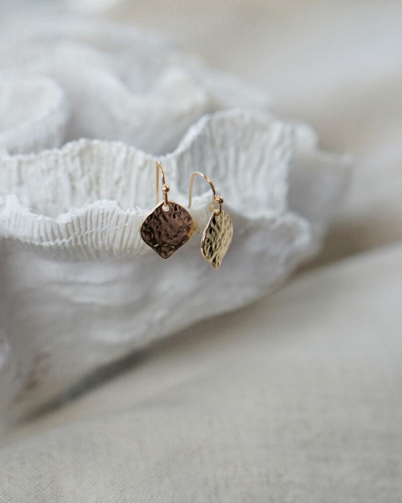 Leaf – guld øreringe