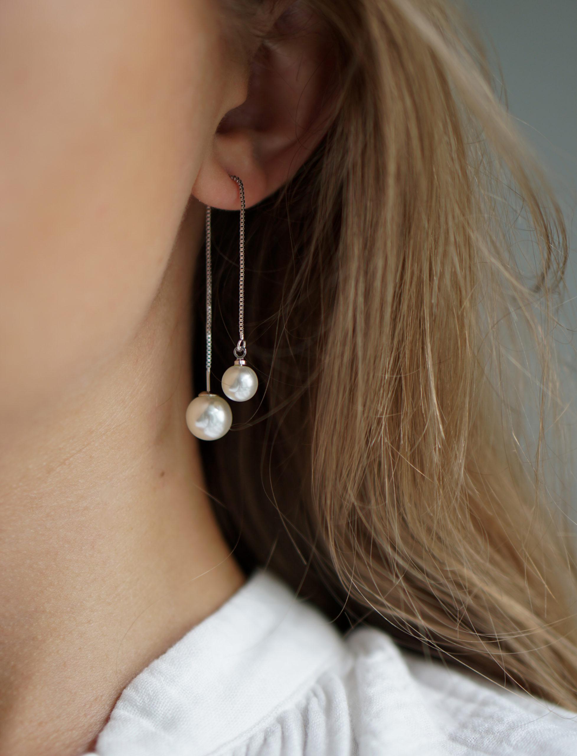 Lana – sølv øreringe