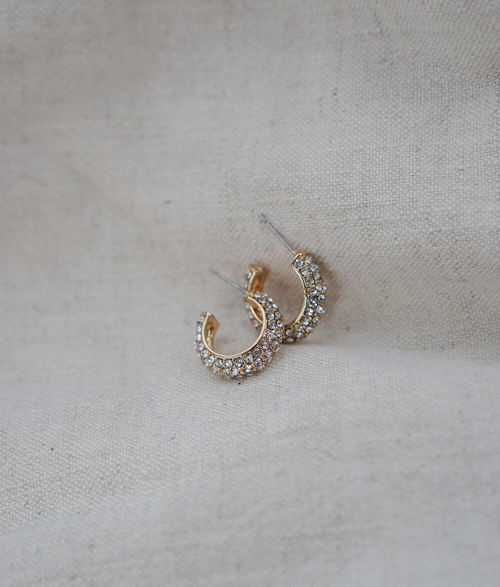 Arina – guld øreringe