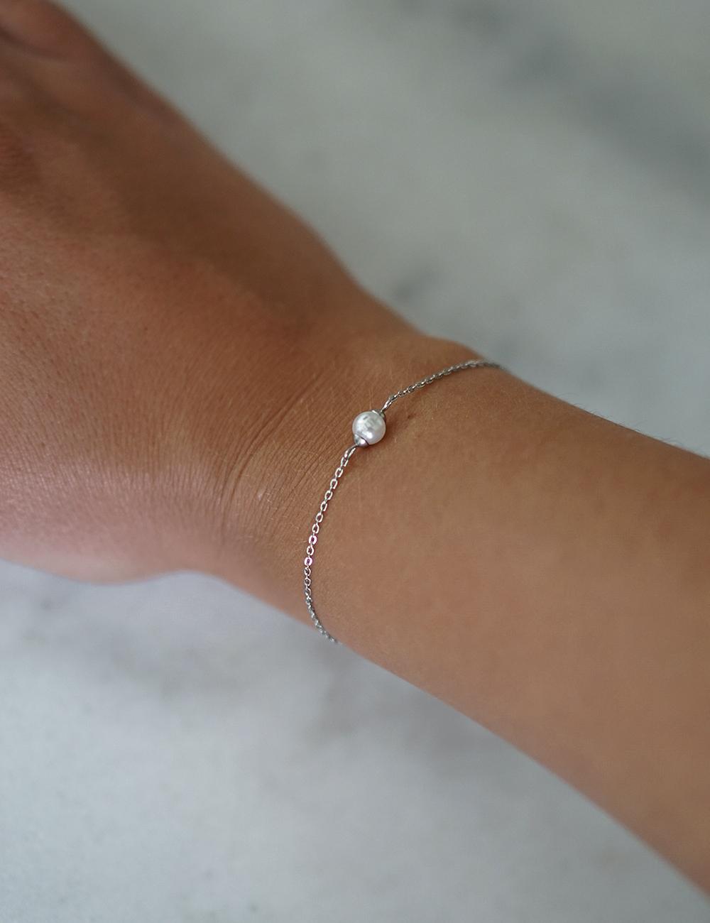 Pearl – sølv armbånd