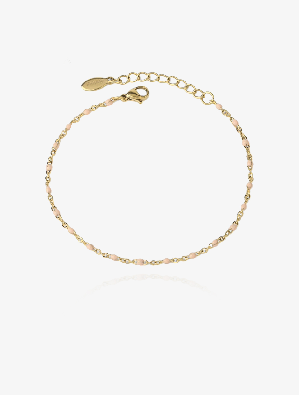 Coline rosa – guld armbånd