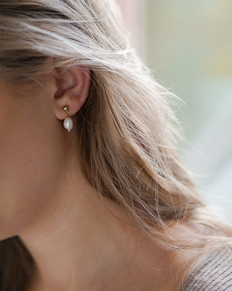 Milla – Perle øreringe
