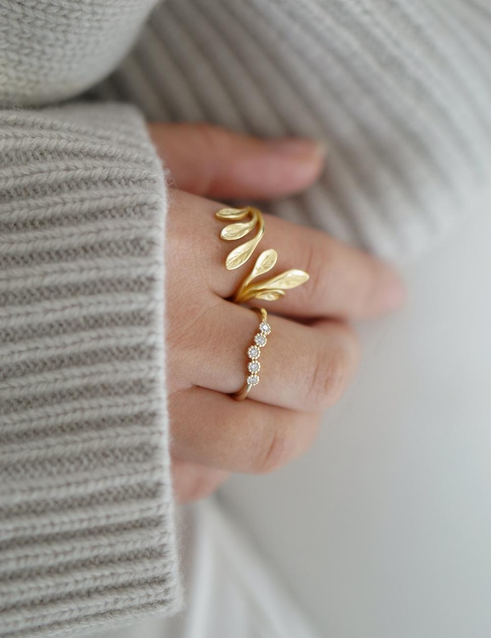 Leaf – Guld ring