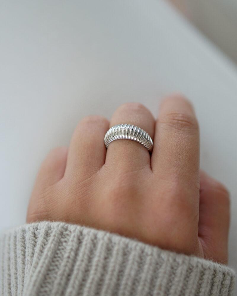 Croissant – Sølv ring