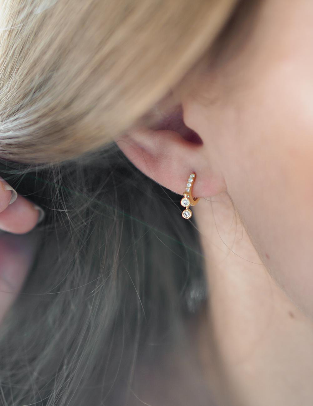 Darcy – guld øreringe