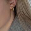 croissant øreringe