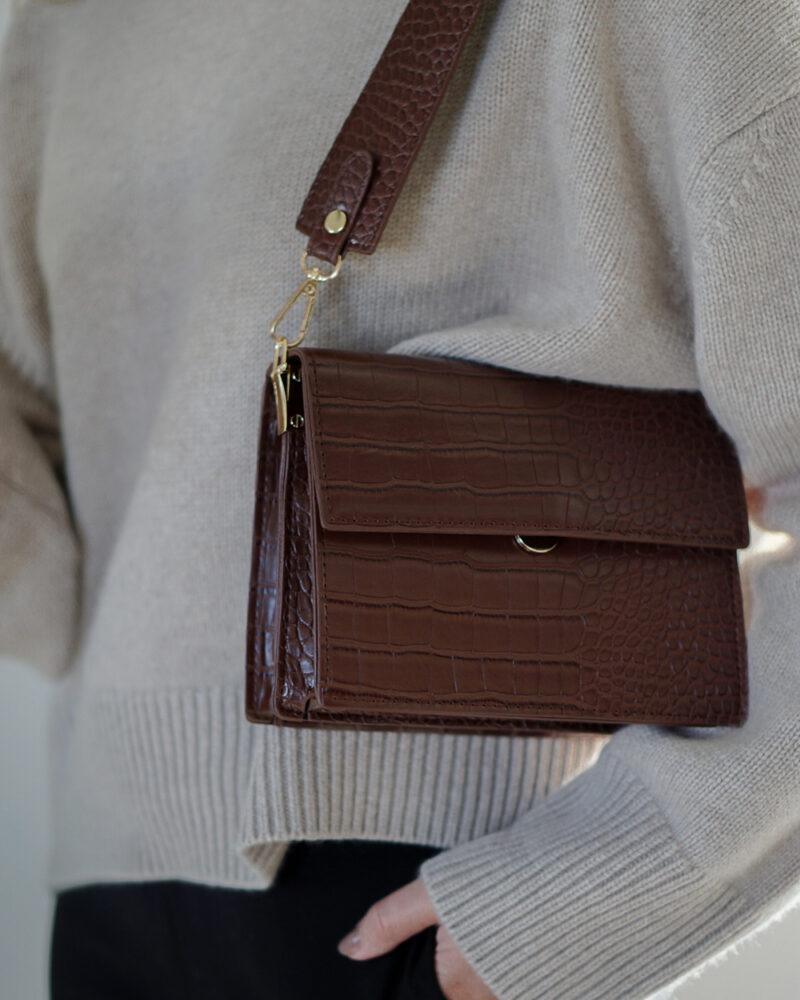 Olivia taske – brun