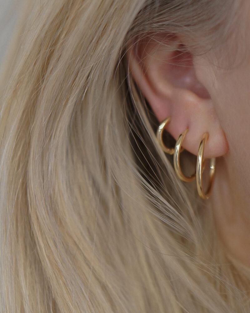 Simple hoop – Guld øreringe