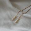 Lange øreringe med perler