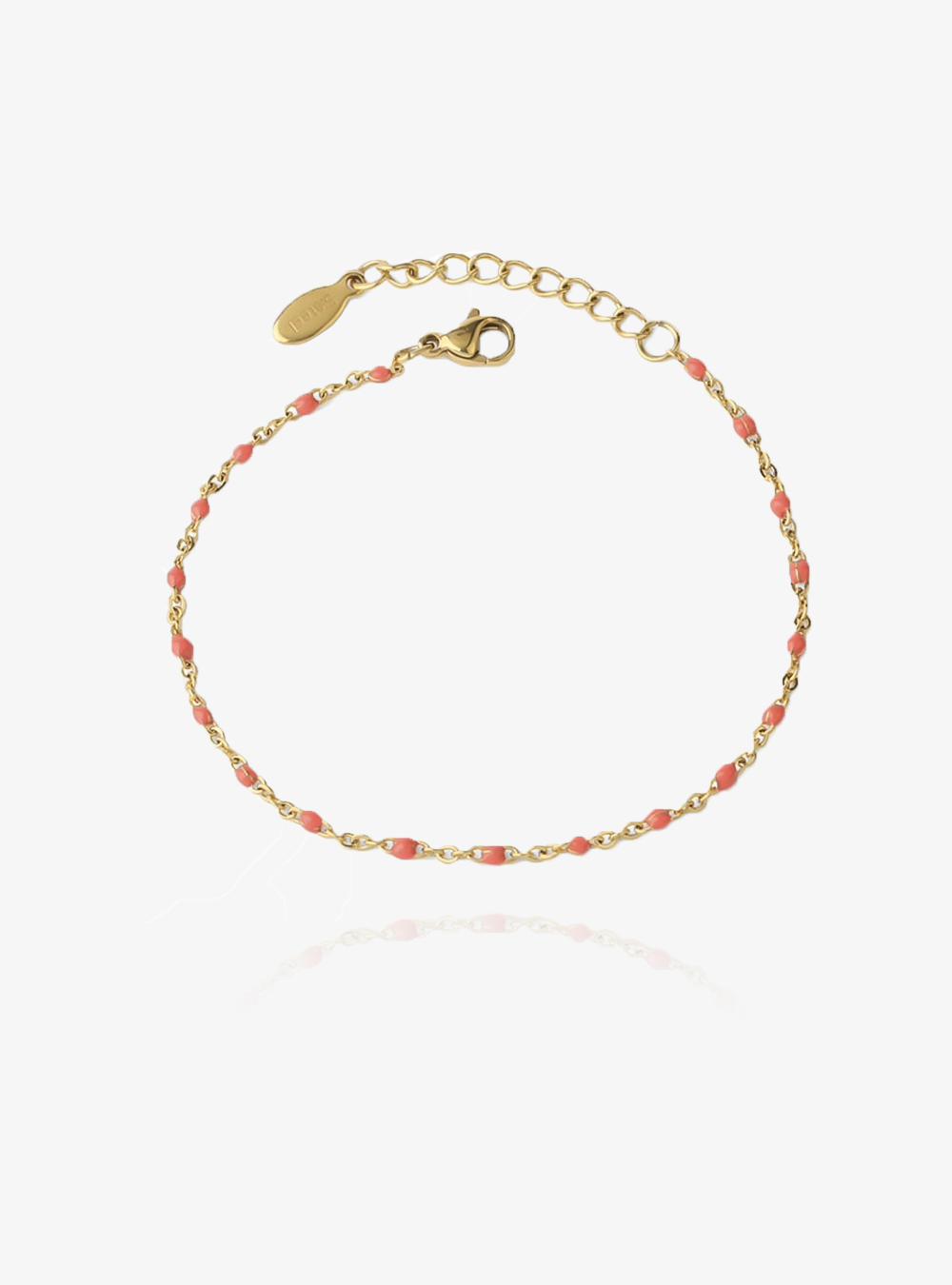 Coline koral – Guld armbånd