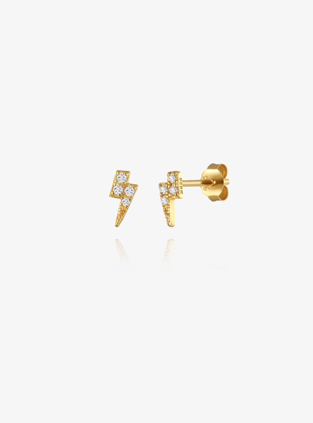 Lightning – Guld øreringe