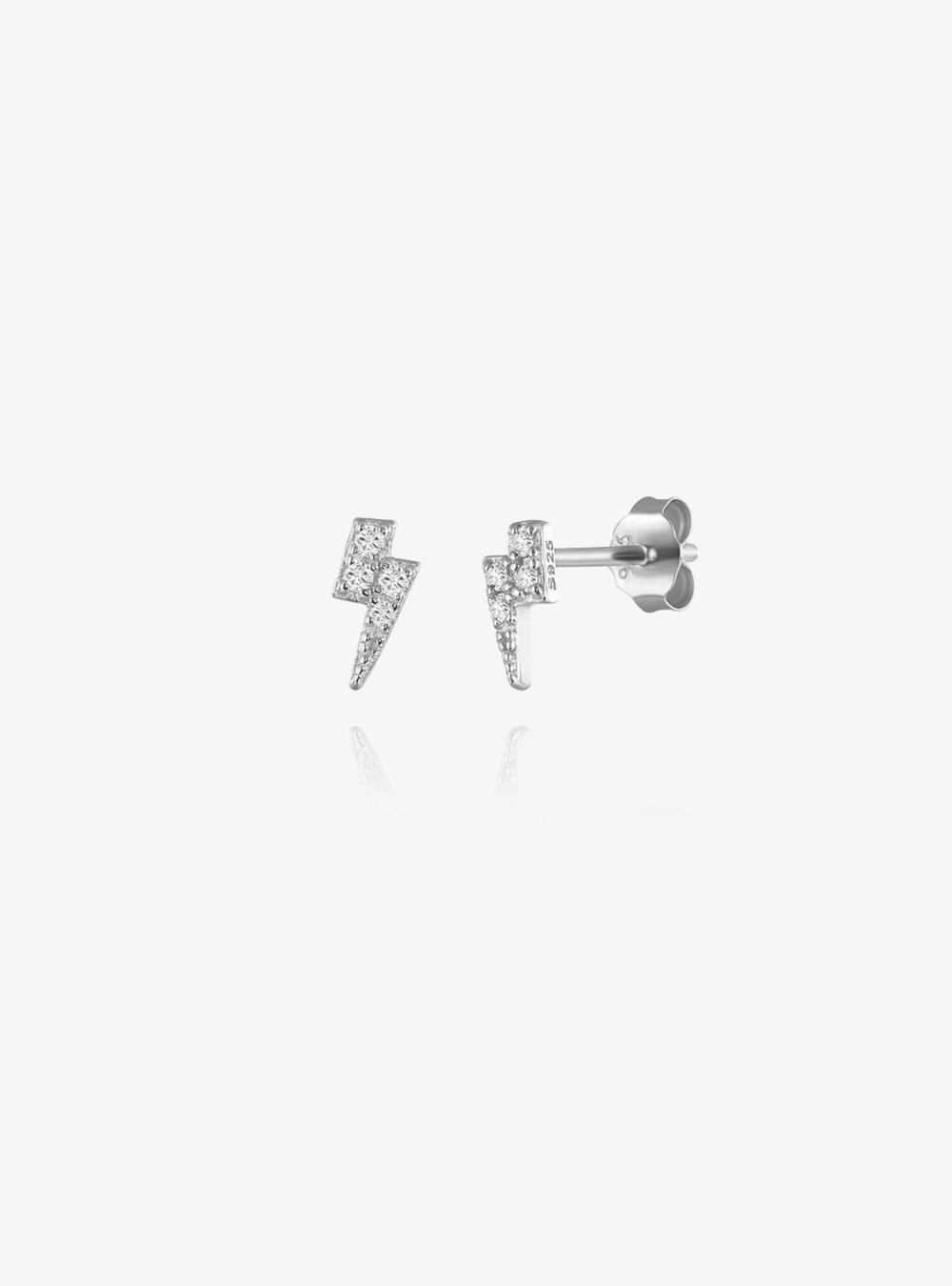 Lightning – Sølv øreringe
