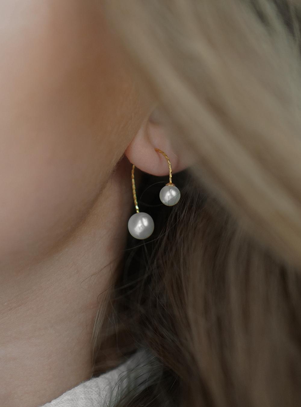 Aida – Guld øreringe