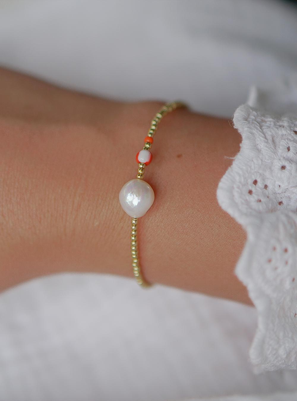 Lulu – Perle armbånd