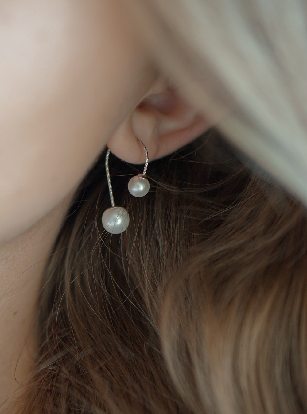 Aida – Sølv øreringe