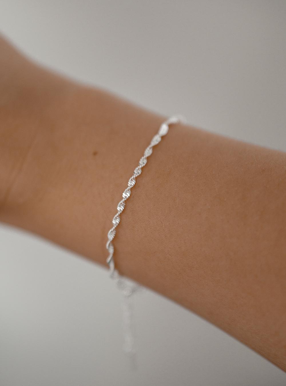 Dalia – sølv armbånd