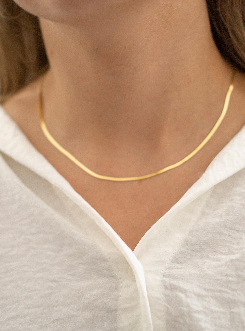 Caroline – Guld halskæde