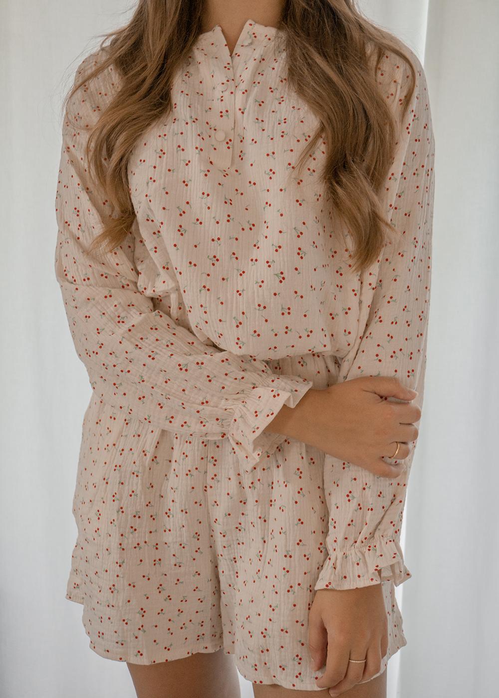 Pyjamas kirsebær